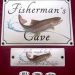 Lokalschild Fisherman's cave