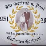 Schild zum Ehejubilaeum