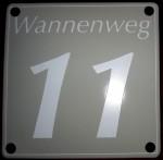 Variante Hausnummer modern