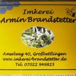 Imkerei-Schild mit Foto