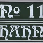 Jugendstil-Schilder