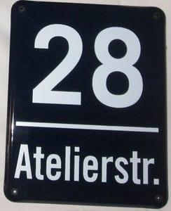 """Variante """"Münchner Hausnummer"""""""