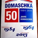 Logoschild zum Firmenjubiläum Domaschka