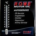 Werbetafel mit Thermometer für ROWE