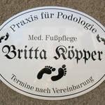 Emailschild der Praxis für Podologie Britta Köpper