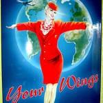 Werbetafel für Martin Air