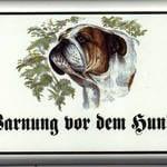 Hundeschild mit Buldogge