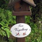 Hinweisschild Vogelhaag
