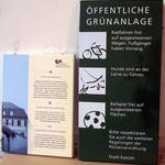 Informationstafeln für Stadtrundgang und Parkanlagen