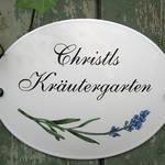 Individuelles Kräutergarten-Schild