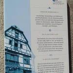 Hinweisschild Stadtrundgang Besigheim mit Foto und informativen Texten