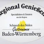 Hinweisschild Regional Genießen