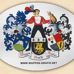 Wappenschild oval nach Kundendaten