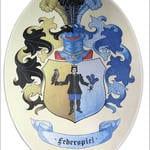 Wappenschild mehrfarbig