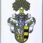 Wappenschild mit Familienwappen