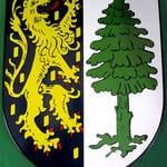 Wappenschild Dannenfels formgeschnitten