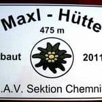 Schild Maxl-Hütte