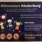 Rittmeisters Spielplatz-Schild