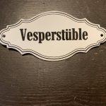 Türschild Variante Vesperstüble
